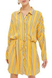 Topshop Drawstring Stripe Shirtdress at Nordstrom Rack