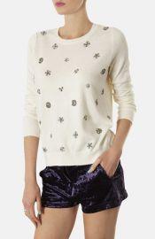 Topshop Embellished Knit Sweater at Nordstrom
