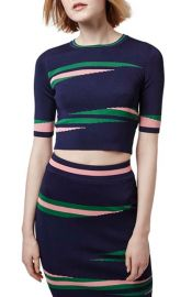 Topshop Eraser Stripe Crop Top at Nordstrom