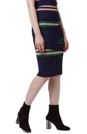 Topshop Eraser Stripe Tube Skirt at Nordstrom
