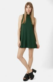 Topshop Flippy Tunic Dress in Green at Nordstrom