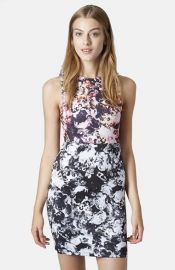 Topshop Floral Print Body-Con Dress at Nordstrom