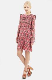 Topshop Floral Print Ruffle Dress at Nordstrom