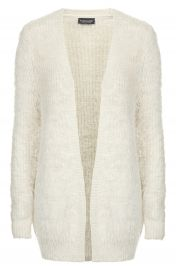 Topshop Fluffy Knit Cardigan in ivory at Nordstrom