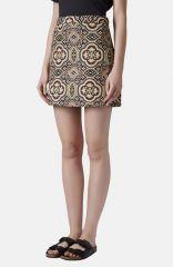 Topshop Folk Jacquard A-Line Skirt at Nordstrom