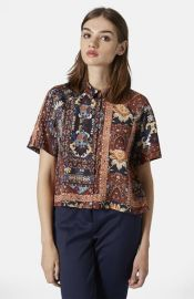 Topshop Folk Print Shirt at Nordstrom