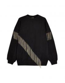 Topshop Fringe Chain Sweatshirt at Yoox