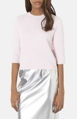 Topshop Hexagon Quilted Top at Nordstrom