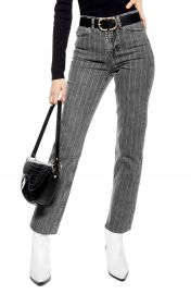Topshop High Waist Pinstripe Jeans   Nordstrom at Nordstrom