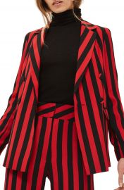 Topshop Humbug Stripe Double Breasted Blazer at Nordstrom