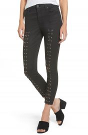 Topshop Jamie Coated Lace-Up Skinny Jeans   Nordstrom at Nordstrom