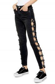Topshop Jamie Side Buckle High Waist Skinny Jeans   Nordstrom at Nordstrom