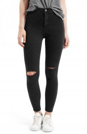 Topshop Joni Destroyed Moto Jeans Petite at Nordstrom