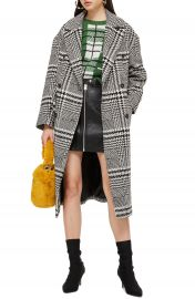 Topshop Kim Check Coat at Nordstrom