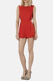 Topshop Lace Back Romper at Nordstrom