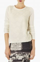 Topshop Lace Overlay Knit Sweater at Nordstrom