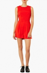 Topshop Lace Panel Romper at Nordstrom