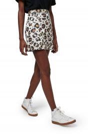 Topshop Leopard Jacquard Miniskirt at Nordstrom