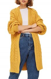 Topshop Long Open Front Cardi at Nordstrom
