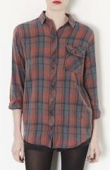 Topshop Marvin Plaid Shirt at Nordstrom