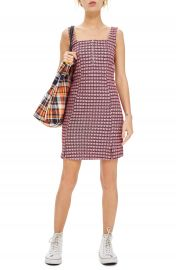 Topshop Mini Check Pinafore Dress   Nordstrom at Nordstrom