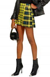 Topshop Mix Check Kilt Miniskirt  Petite at Nordstrom