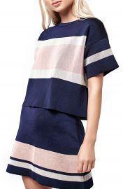 Topshop Modern Stripe Boxy Tee at Nordstrom