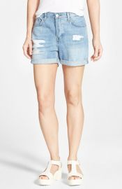 Topshop Moto and39Haydenand39 Bleach Ripped Jean Shorts at Nordstrom