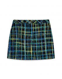 Topshop Plaid Boucle Skirt at Yoox