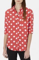 Topshop Polka Dot Shirt at Nordstrom