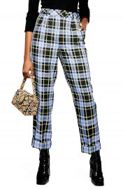 Topshop Punk Check Edie Peg Trousers   Nordstrom at Nordstrom