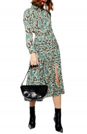 Topshop Python Pleated Shirtdress   Nordstrom at Nordstrom