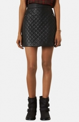 Topshop Quilted A-Line Skirt at Nordstrom