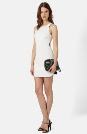 Topshop Raw Edge Cutout Body-Con Dress at Nordstrom