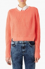 Topshop Ribbed Crop Sweater at Nordstrom