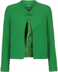 Topshop Romeo Crepe Jacket in green at Nordstrom