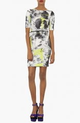 Topshop Scribble Print Body-Con Jersey Minidress at Nordstrom