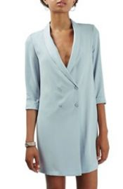 Topshop Slouchy Longline Blazer in Blue at Nordstrom