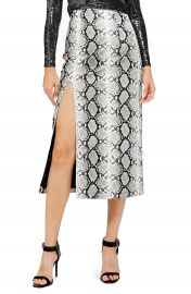 Topshop Snake Print Faux Leather Midi Skirt   Nordstrom at Nordstrom