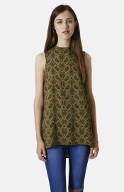 Topshop Snake Print Tunic at Nordstrom