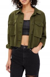 Topshop Sonny Raw Hem Shacket  Regular  amp  Petite    Nordstrom at Nordstrom