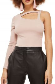 Topshop Strappy One Shoulder Bodysuit at Nordstrom