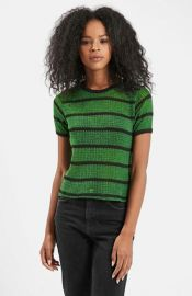 Topshop Striped Knit Tee at Nordstrom