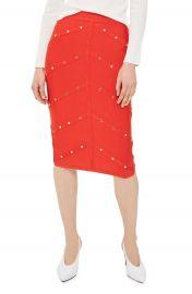 Topshop Studded Pencil Skirt at Nordstrom