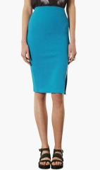 Topshop Textured Pencil Skirt in Turquoise at Nordstrom