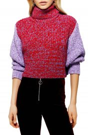 Topshop Three Color Roll Neck Sweater   Nordstrom at Nordstrom