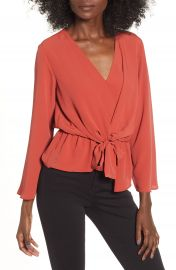 Topshop Tiffany Asymmetrical Blouse at Nordstrom