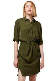 Topshop Twist Front Shirtdress at Nordstrom