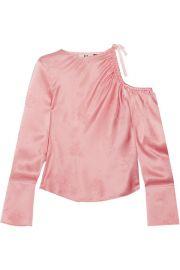 Topshop Unique   Lambeth cutout silk-jacquard blouse at Net A Porter
