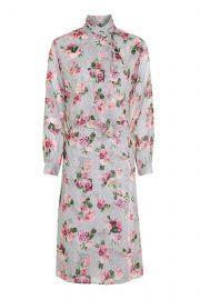 Topshop Unique Aubrey draped floral-print silk crepe de chine dress at Net A Porter